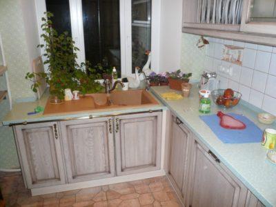 кухня с фасадами массив дуба 1