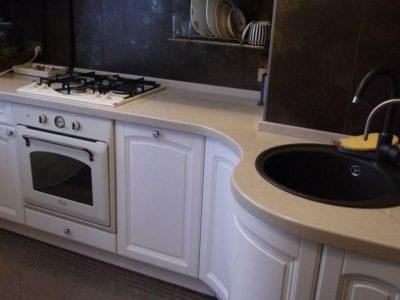 кухня белая эмаль 1
