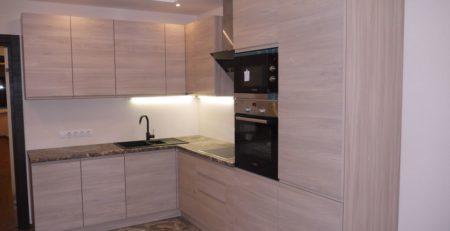 кухня с фасадами Сангалло Серый жемчуг 1