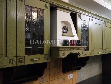кухня с зелеными фасадами Флореале 3