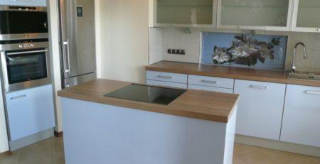 серо голубая кухня 1