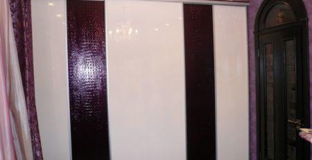 шкаф купе с кожей 1