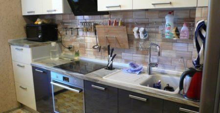 двухцветная кухня 1
