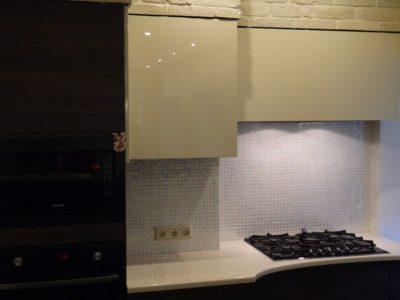 кухня с фасадами Сангалло темный орех 1