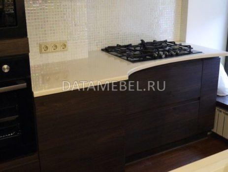 кухня с фасадами Сангалло темный орех 2