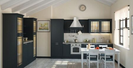 кухня Порто антрацит 1