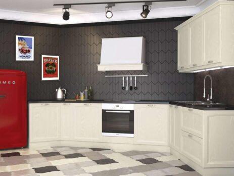 Кухня Амальфи бежевая 5