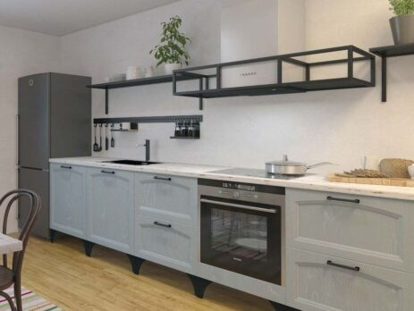 Кухня Амальфи серая 9