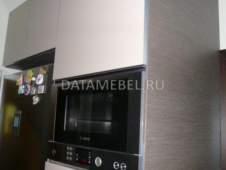 глянцевая коричневая кухня 14