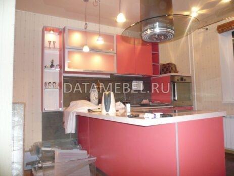 угловая красная кухня 16