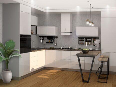 Белые кухни – особенности дизайна 13
