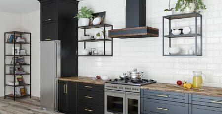 кухни в стиле лофт 31