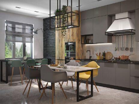кухни в стиле лофт 32
