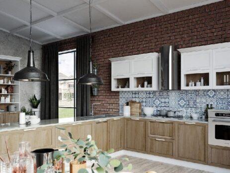 кухни в стиле лофт 34