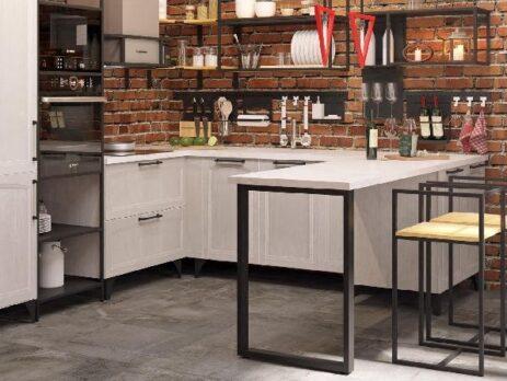 кухни в стиле лофт 35