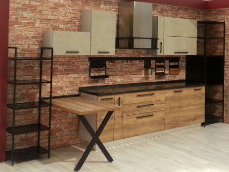 кухни в стиле лофт 37