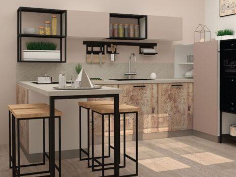 кухни в стиле лофт 38
